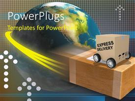 PowerPlugs: PowerPoint template with two boxes with a globe in the background