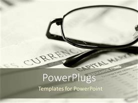 PowerPlugs: PowerPoint template with eye glasses placed on newspaper for reading