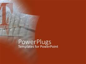 PowerPlugs: PowerPoint template with faded keyboard on Maroon background with Large text T