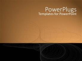 PowerPlugs: PowerPoint template with faded wire frame on black and brown background