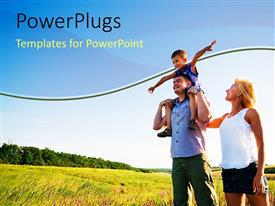 PowerPlugs: PowerPoint template with a family enjoying their time in the countryside