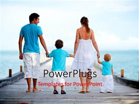 PowerPlugs: PowerPoint template with family on holiday with sea