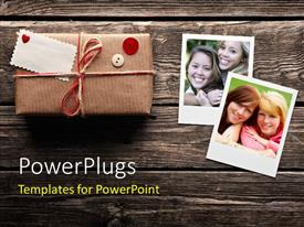PowerPlugs: PowerPoint template with family love and care with frames and gift