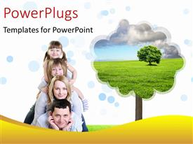 PowerPlugs: PowerPoint template with a family photo with a tree in the background