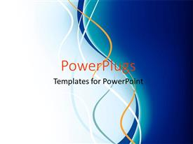 PowerPlugs: PowerPoint template with fantasy design for creative ideas with blue and white colors