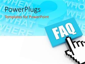PowerPlugs: PowerPoint template with fAQ concept with keywords