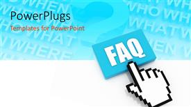 PowerPoint template displaying fAQ concept with keywords