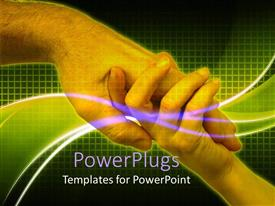 PowerPlugs: PowerPoint template with father holding son hand, love sharing connection
