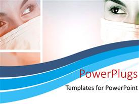 PowerPlugs: PowerPoint template with a close up view of a ladies face with her mouth covered