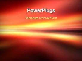 PowerPoint template displaying a few seconds video of an abstract background