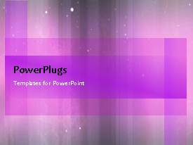 PowerPoint template displaying a few seconds video of an abstract purple colored background