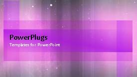 PowerPoint template displaying a few seconds video of an abstract purple colored background - widescreen format