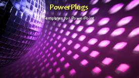 PowerPoint template displaying a few seconds video of a colored abstract background - widescreen format