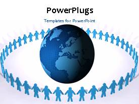 PowerPlugs: PowerPoint template with a few seconds video showing people holding hands around an earth globe