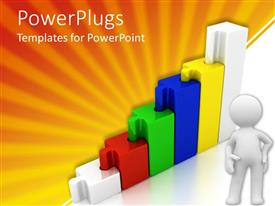 PowerPlugs: PowerPoint template with a figure along with a growth table