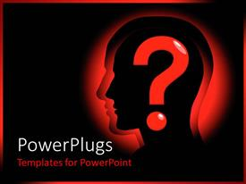 PowerPlugs: PowerPoint template with a figure along with a question mark