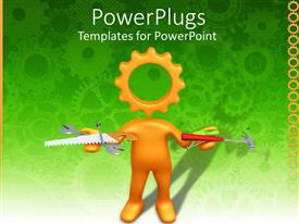 PowerPlugs: PowerPoint template with a figure depicting to be a construction worker