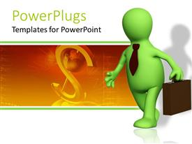 PowerPlugs: PowerPoint template with a figure with a dollar sign in the background