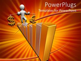 PowerPlugs: PowerPoint template with a figure on a growth table