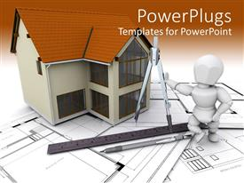 PowerPlugs: PowerPoint template with a figure holding the designing material