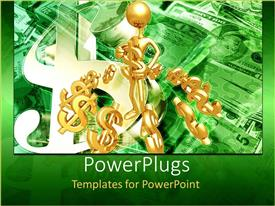PowerPlugs: PowerPoint template with a figure holding the dollar figures