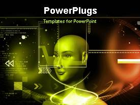 PowerPlugs: PowerPoint template with a figure with a number of code in the background