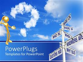 PowerPlugs: PowerPoint template with a figure with a number of signs