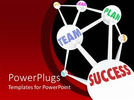 PowerPlugs: PowerPoint template with a figure related to teamwork and success