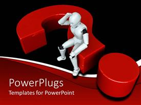 PowerPlugs: PowerPoint template with a figure of a robot trying to solve a problem