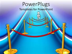 PowerPlugs: PowerPoint template with a figure running in order to cross various hurdles