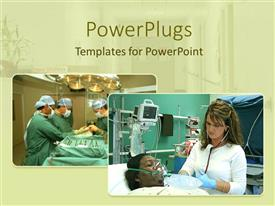 PowerPlugs: PowerPoint template with a figure showing the surgeons treating various patients