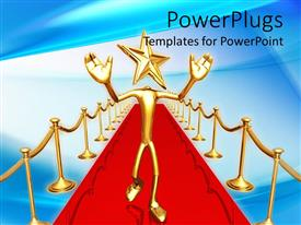 PowerPlugs: PowerPoint template with a figure with a star with a bluish background