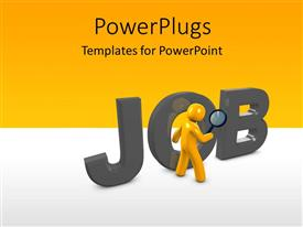 PowerPlugs: PowerPoint template with a figure with the word job and place for text