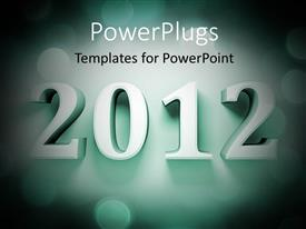 PowerPlugs: PowerPoint template with an engraved text to a wall that spell out '2012'
