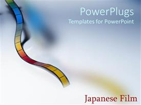 PowerPlugs: PowerPoint template with film text with color film strip on colorful background