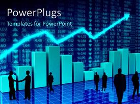 PowerPlugs: PowerPoint template with finance and economy charts concept with digital numbers