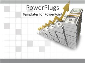 PowerPlugs: PowerPoint template with finances growing income salary money raising on white background