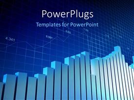 PowerPlugs: PowerPoint template with financial bar chart with grid lines in background