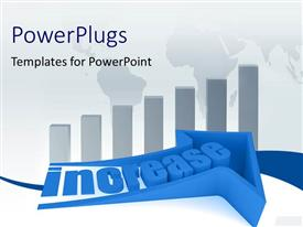 PowerPlugs: PowerPoint template with financial chart depicting increase over world map in background
