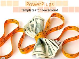 PowerPlugs: PowerPoint template with financial constraints responsibility tight on money less spending sales decrease business