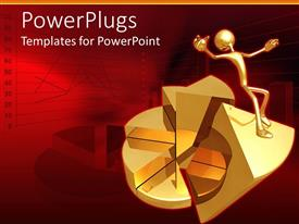 PowerPlugs: PowerPoint template with financial failure depiction with falling man on financial chart