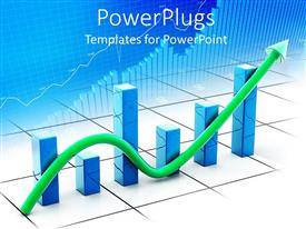 PowerPlugs: PowerPoint template with a financial growth table with its reflection in the background