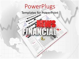 PowerPlugs: PowerPoint template with financial news logo on newspaper with world map