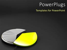 PowerPlugs: PowerPoint template with financial Pie chart with dark color