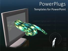 PowerPlugs: PowerPoint template with finger pointing blaming others technology versus humanity black background