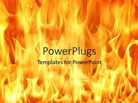 PowerPlugs: PowerPoint template with fire and flames background