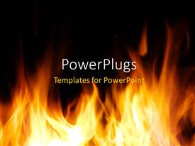 PowerPlugs: PowerPoint template with fire flames over dark background