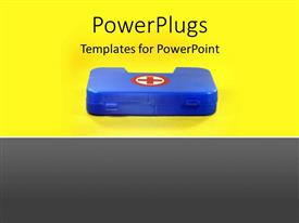 PowerPlugs: PowerPoint template with first aid box depicting health and safety concept with yellow color