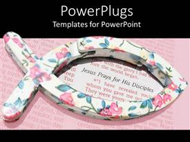 PowerPlugs: PowerPoint template with fish symbol encircling verse of the holy bible
