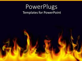 PowerPlugs: PowerPoint template with flames bottom black background
